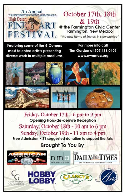 High Desert Fine Art Festival @ Farmington Civic Center | Farmington | New Mexico | United States